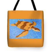 Sea Turtle Inlay In Vibrant Colors Tote Bag