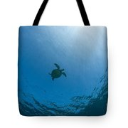Sea Turtle Silhouette Tote Bag