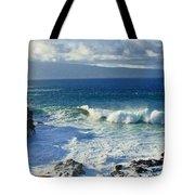 Sea Wave Surf Clouds Coast 46713 300x532 Tote Bag