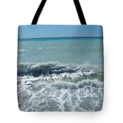 Sea Waves In Italy Tote Bag