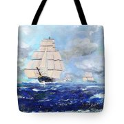 Sea Witch Leaving Port Tote Bag