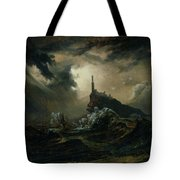 sea with Lighthouse Tote Bag