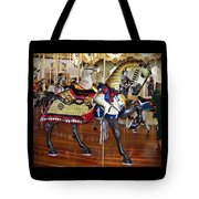 Seabreeze Carousel Armored Horse Tote Bag
