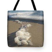 Seafoam Detail On Waters Edge Tote Bag