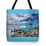 Seafood On The River  Tote Bag