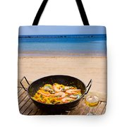 Seafood Paella In Cafe Tote Bag