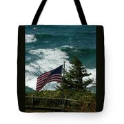 Seagull And Flag Tote Bag