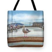 Seagull At Pier 39 Tote Bag