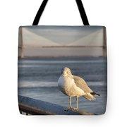 Seagull At Ravenel Bridge Tote Bag