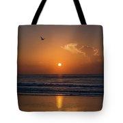 Seagull At Sunrise Tote Bag