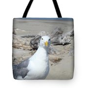 Seagull Bird Art Prints Coastal Beach Driftwood Tote Bag