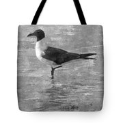 Seagull Black And White Tote Bag