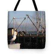 Seagull Morro Bay California Tote Bag
