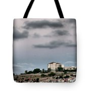 Seagull Under The Moon Light Of Mediterranean Sea Tote Bag