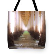 Seagull Under The Pier Tote Bag