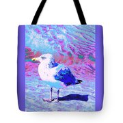 Cool And Colorful Gull Tote Bag