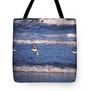 Seagulls Above The Seashore Tote Bag