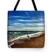Seagulls At The Beach Tote Bag
