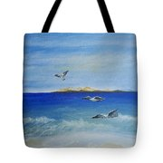Seagulls By The Sea Tote Bag