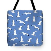 Seagulls Gathering At The Cricket Tote Bag