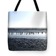 Seagulls On A Sandbar Tote Bag