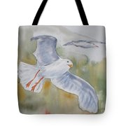 Seagulls Over Glacier Bay Tote Bag