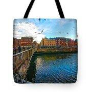 Seagulls Over Liffey Tote Bag