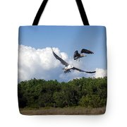 Seagulls Over Marsh Tote Bag