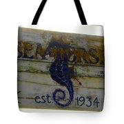 Seahorse Est. 1934 Tote Bag