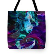 Seahorse In A Lightning Storm Tote Bag