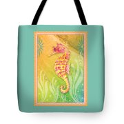 Seahorse Pink Tote Bag