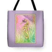 Seahorse Violet Tote Bag