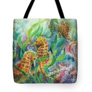 Seahorses Three Tote Bag