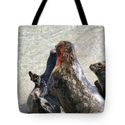 Seal Fight Tote Bag