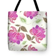 seamless   pattern of watercolor Fuchsia Flowers Tote Bag
