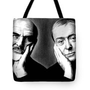 Sean Connery And Michael Caine Tote Bag