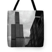 Sears Tower B-w Tote Bag