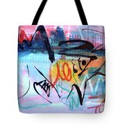 Seascape Abstract Tote Bag