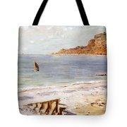 Seascape At Sainte Adresse  Tote Bag