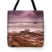 Seascape At The Coastline Of West France Tote Bag