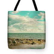 Seascape Cloudscape Retro Effect Tote Bag