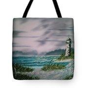 Seascape Lighthouse Tote Bag