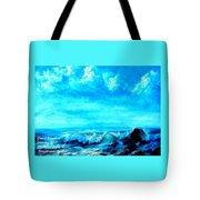 Seascape Scene Near Northbrooke-on-sea L A Tote Bag