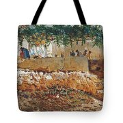 Seascape View Of Palma De Mallorca Tote Bag