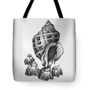 Seashell And Barnacles Tote Bag