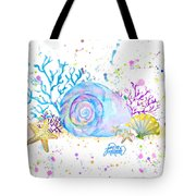 Seashells And Coral Watercolor Tote Bag