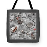 Seashells Collage Of Any Color Tote Bag