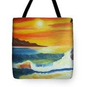 Seashore And Sunrise Tote Bag