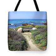 Seaside Bench Tote Bag