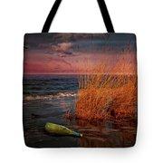 Seaside Bottle At Sunset Tote Bag